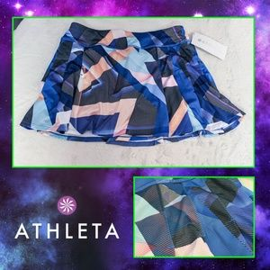 Athleta Geometric Pattern Sports Skort NWT